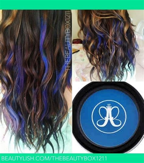Electric Blue Temporary Mermaid Hair Hair Pinterest