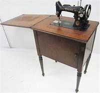 antique sewing machine table VINTAGE 1936 SINGER TABLE MOUNTED ANTIQUE SEWING MACHINE ...