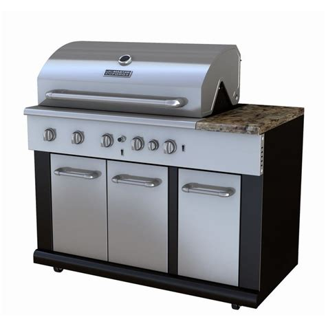 modular outdoor sink and side burners master forge bg179a outdoor modular kitchen 5 burner