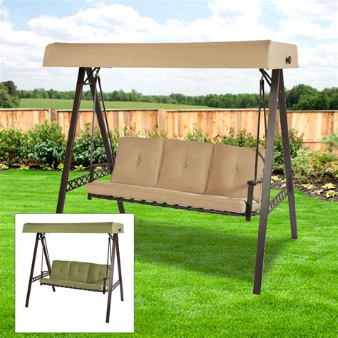 replacement canopy for lowes 3 person swing beige garden