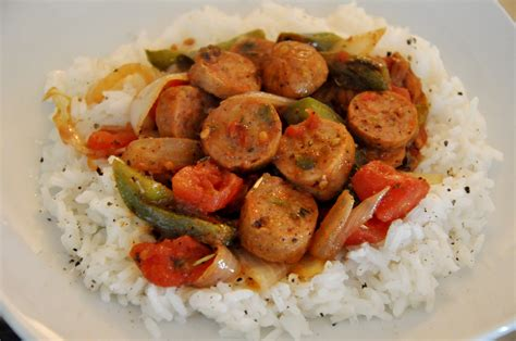sausage recipes sausage and peppers with rice