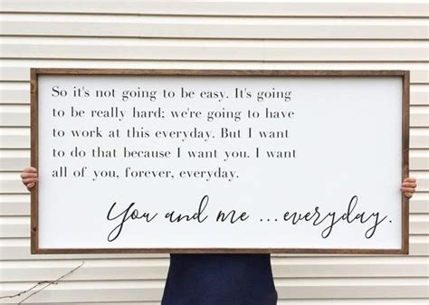 Large Above Bed Sign You And Me Everyday Framed Wood Sign