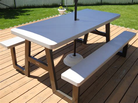folding picnic table costco dandelions and dust bunnies picnic table