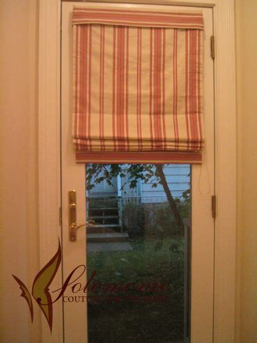 shades door shade with small valance exclusively for