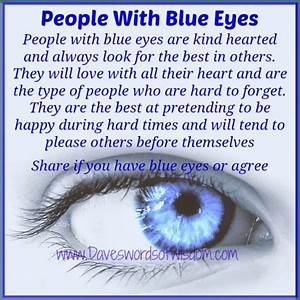 Daveswordsofwisdom.com: Those blue eyed people in our lives