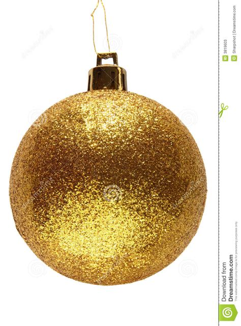 gold glitter christmas bauble stock image image 3819603