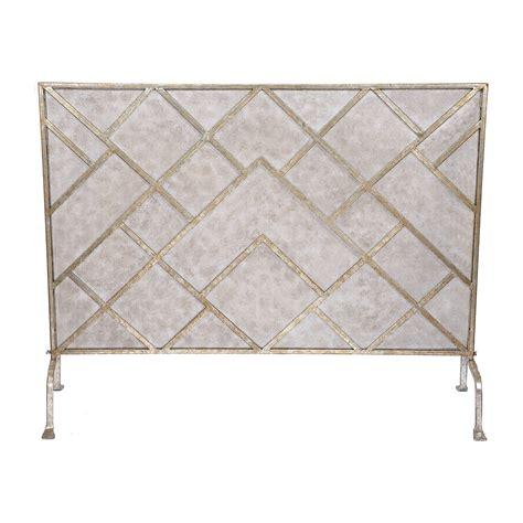 geometric fireplace screen gumps