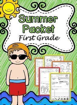 First Grade Summer Packet (first Grade Summer Review Homework)  Summer, Math And Literacy