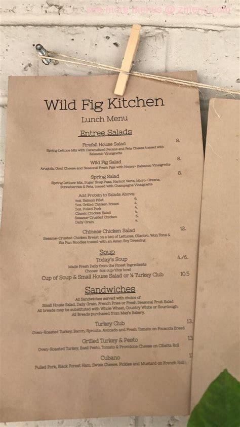menu  wild fig kitchen restaurant coarsegold