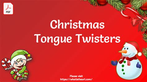 christmas tongue twisters flash cards    home