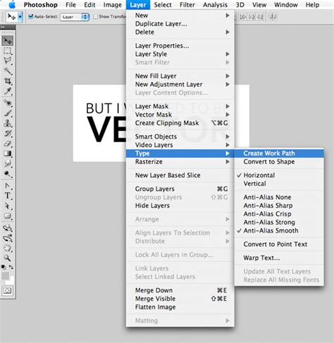 Quick Tip Convert Photoshop Text To Vector For Use In
