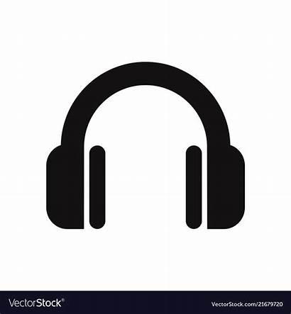 Dj Icon Headphone Symbol Vector Headset Audio