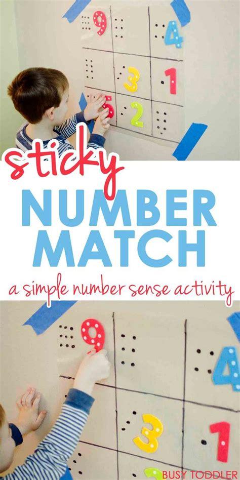 sticky number match preschool math activities math 191 | 1120520c9e469ef81a08573b72d0c214