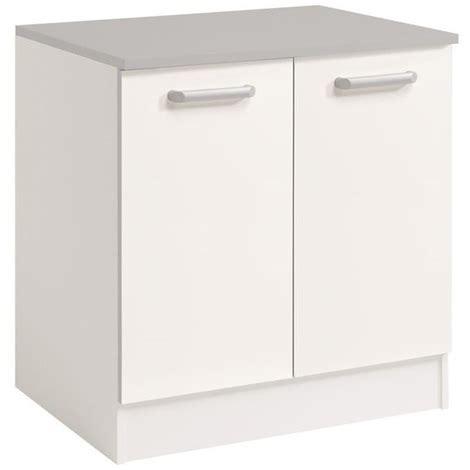 cuisine incorpor馥 leroy merlin meuble sousevier avec portes coloris blanc dim x with meuble sous evier avec lave vaisselle