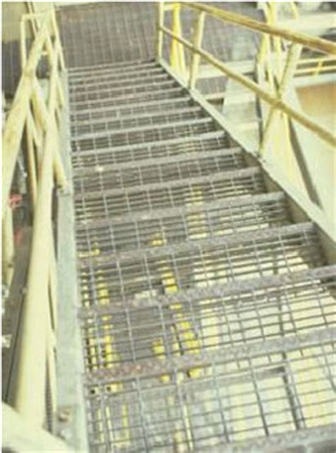 Bar Grating Stair Treads, Galvanized Treads