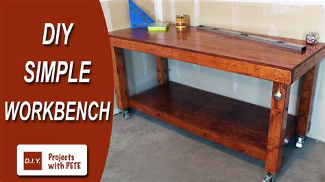 diy simple workbench woodworking bench youtube