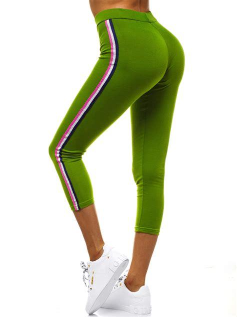 Sieviešu legingi zaļi OZONEE JS/1036/E37 | OZONEE.LV