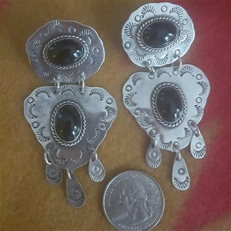 mexican chandelier earrings 17 vintage jewelry vintage sterling mexican onyx