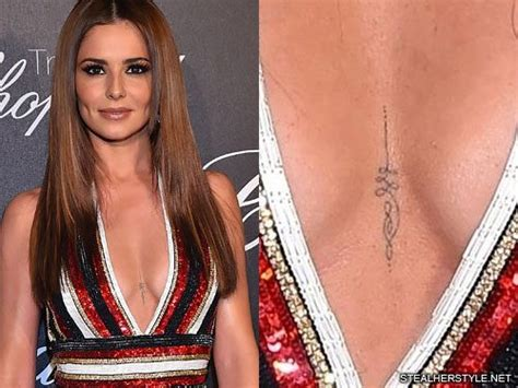 cheryl coles tattoos meanings steal  style