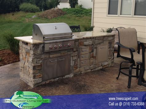kitchen island grill outdoor kitchens pools wichita ks treescapes