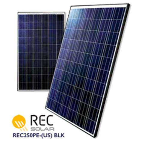 pv module rec rec solar rec250pe us blk solar panel wholesale supplier