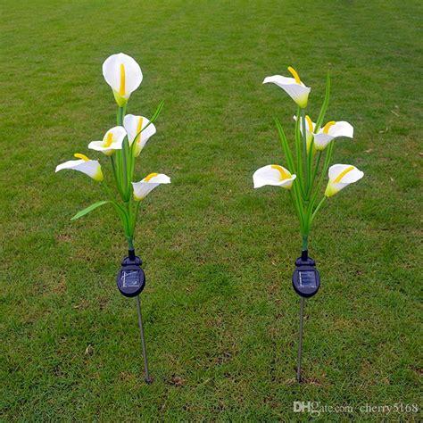decorative solar yard lights 2017 calla lilies solar lights outdoor garden solar lawn
