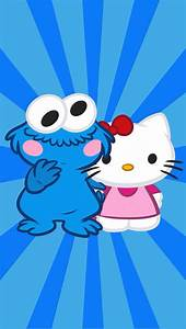 Cookie Monster and Hello Kitty | iPhone Backgrounds ...