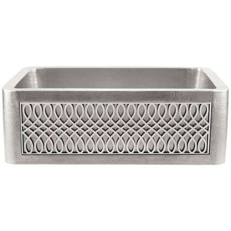 hammered stainless steel farmhouse sink apron front farmhouse sinks wave plumbing