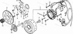 Honda Motorcycle 1979 Oem Parts Diagram For Alternator