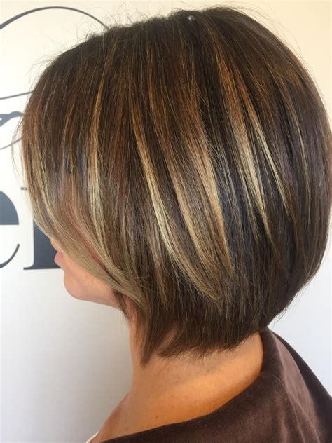 color partial highlight haircut  blow dry