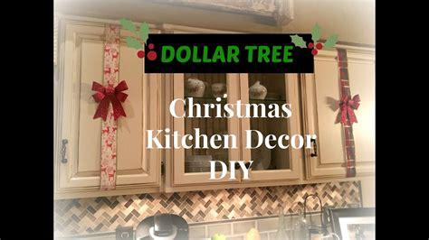 dollar tree christmas kitchen cabinets decor diy plaid