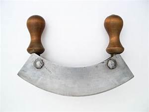 Antique chopping knife, mezzaluna, Germany Solingen ...  Mezzaluna