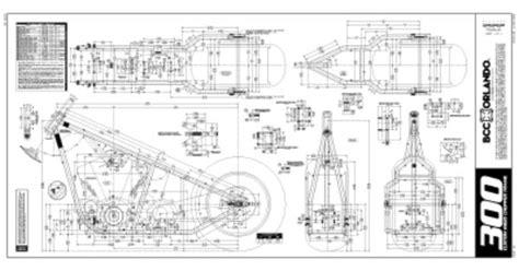 Custom Chopper 300 Rigid Frame Plans Blueprints
