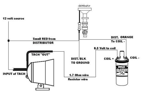 Msd Coil Tach Wiring by Current Trigger Tach To Ready To Run Dist Msd