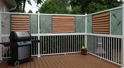 deck railing ideas for privacy painted glass privacy deck railing flex fence louver
