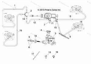 Polaris Side By Side 2011 Oem Parts Diagram For Brakes