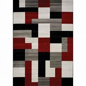 carpette ou tapis pas cher et original pour la decoration With tapis rouge gris noir