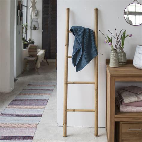 canap bambou echelle porte serviette en bambou pour salle de bain