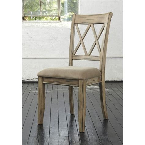 Mestler Side Chair In Antique White by Mestler Upholstered Dining Chair In Antique White