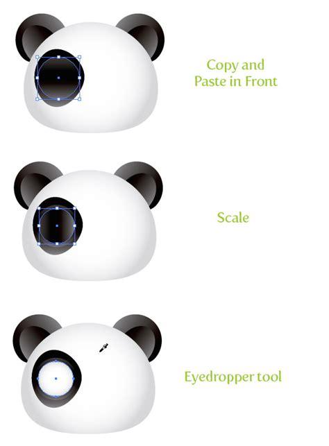 create  cute panda bear face icon vectips