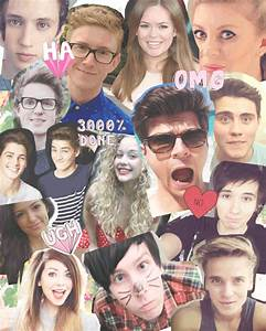 youtubers collage | Tumblr