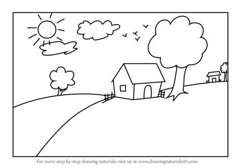 draw  house scenery  kids drawingtutorials