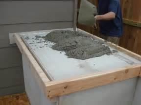 DIY Outdoor Kitchen Concrete Countertop