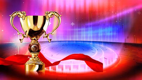 festive atmosphere trophy news poster template background