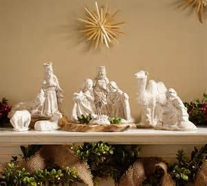 ceramic nativity set traditional accents and - Home Interior Nativity Set