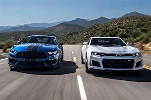 2017 Chevrolet Camaro ZL1 vs. 2017 Ford Mustang Shelby GT350R: The Forever War - Motor Trend