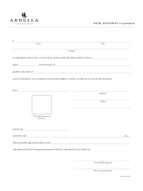 bank affidavit   templates   word excel