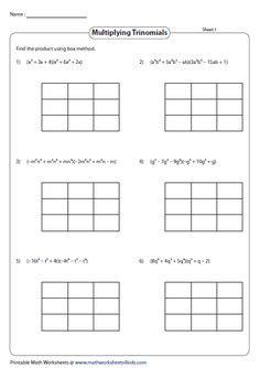 polynomials worksheets images worksheets