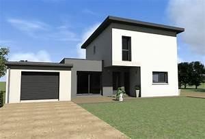 maison contemporaine a etage maisons gab archicad With plan facade maison moderne