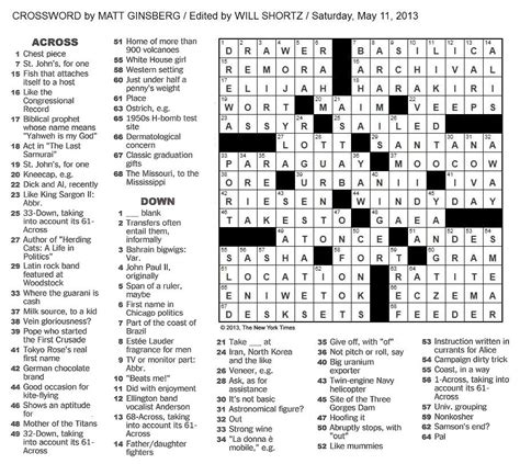 Fishing Float Crossword Puzzle Clue by The New York Times Crossword In Gothic May 2013